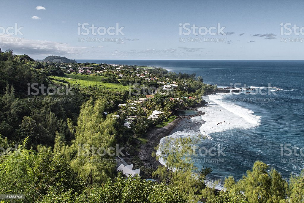 East Coast, La Reunion stock photo