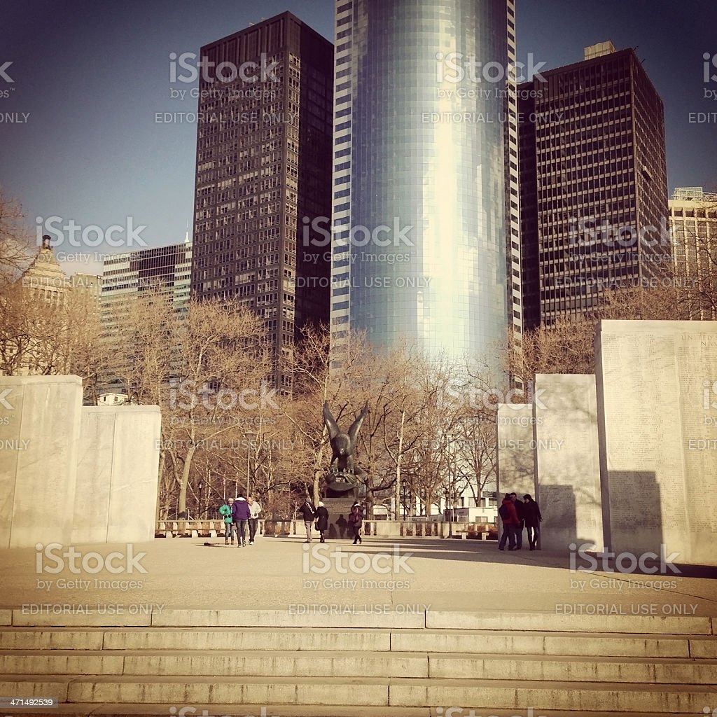 East Coast Memorial in Lower Manhattan royalty-free stock photo
