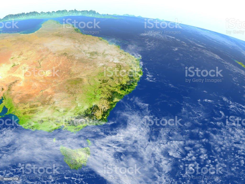 East coast of Australia on planet Earth stock photo