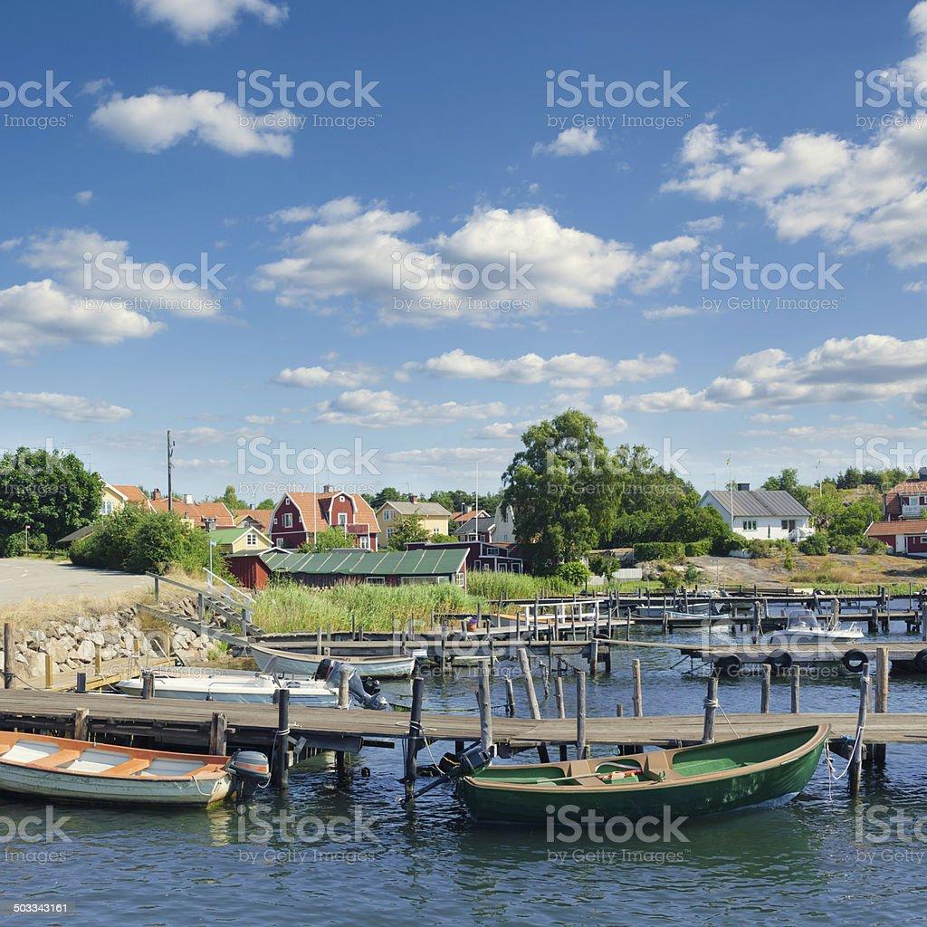 East coast of Sweden stock photo