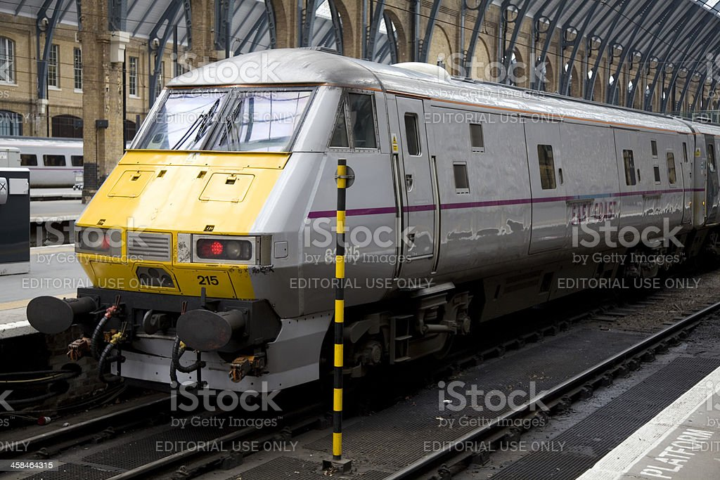 East Coast Train at King's Cross Railway Station royalty-free stock photo