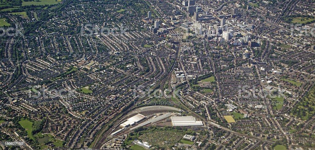 East Croydon, Aerial View stock photo