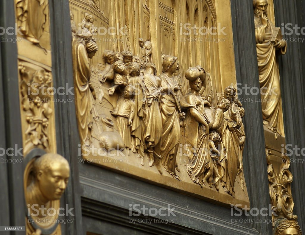 East Doors of Baptistry in Florence, Italy stock photo