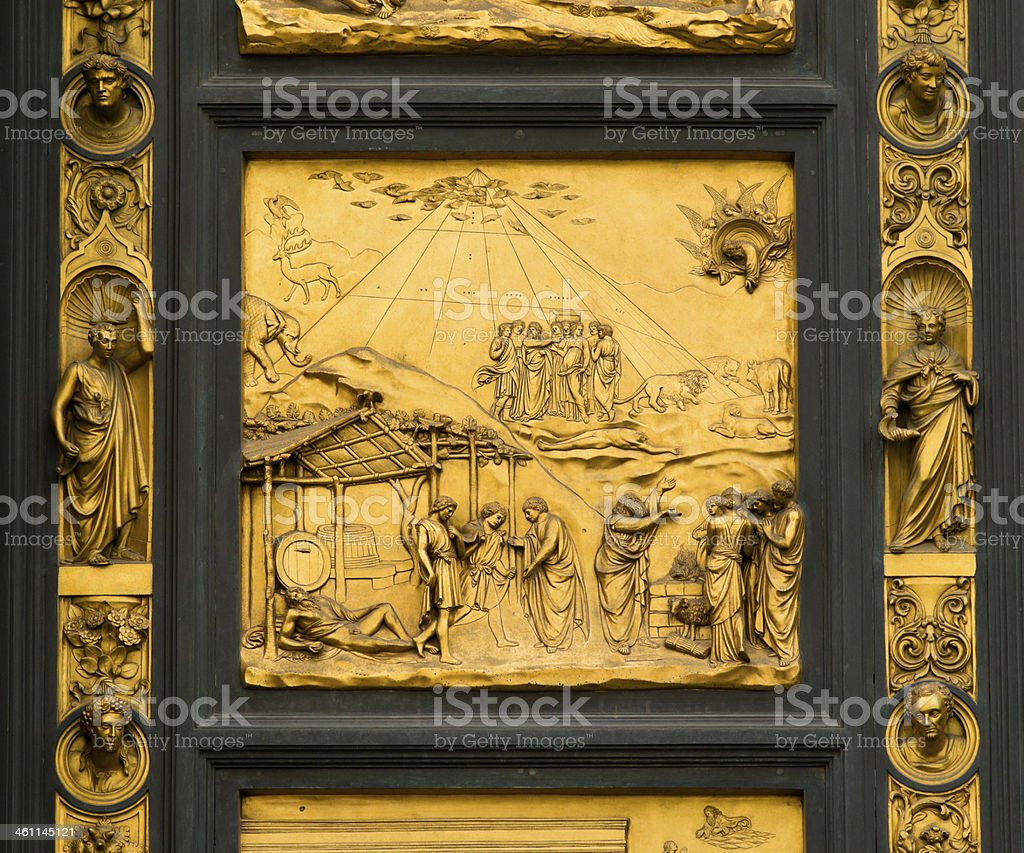 East Doors of Baptistry in Florence, Italy royalty-free stock photo