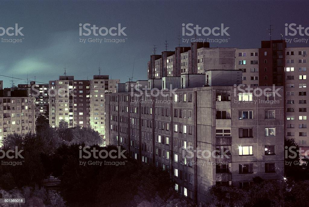 East Europe block of flats stock photo