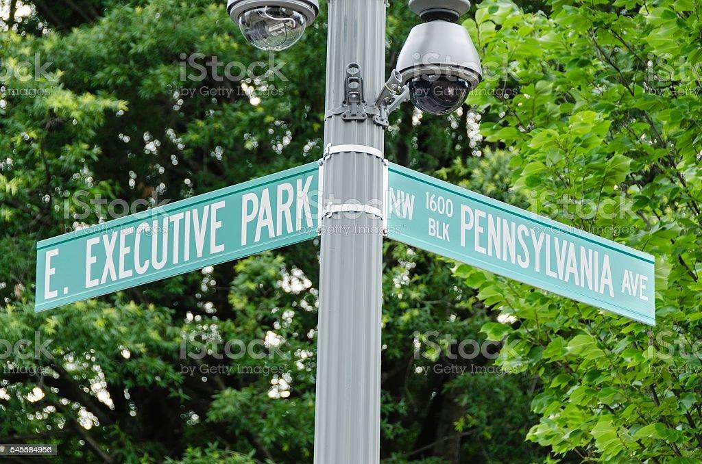 East Executive Park and Pennsylvania Avenue stock photo