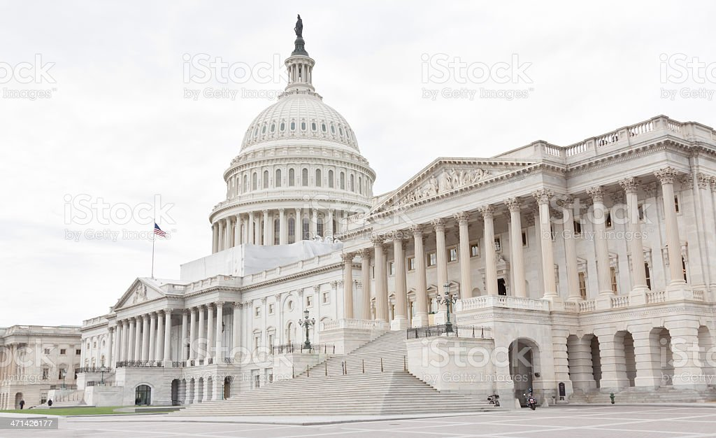 East facade of the Capitol Building, Washington DC. royalty-free stock photo