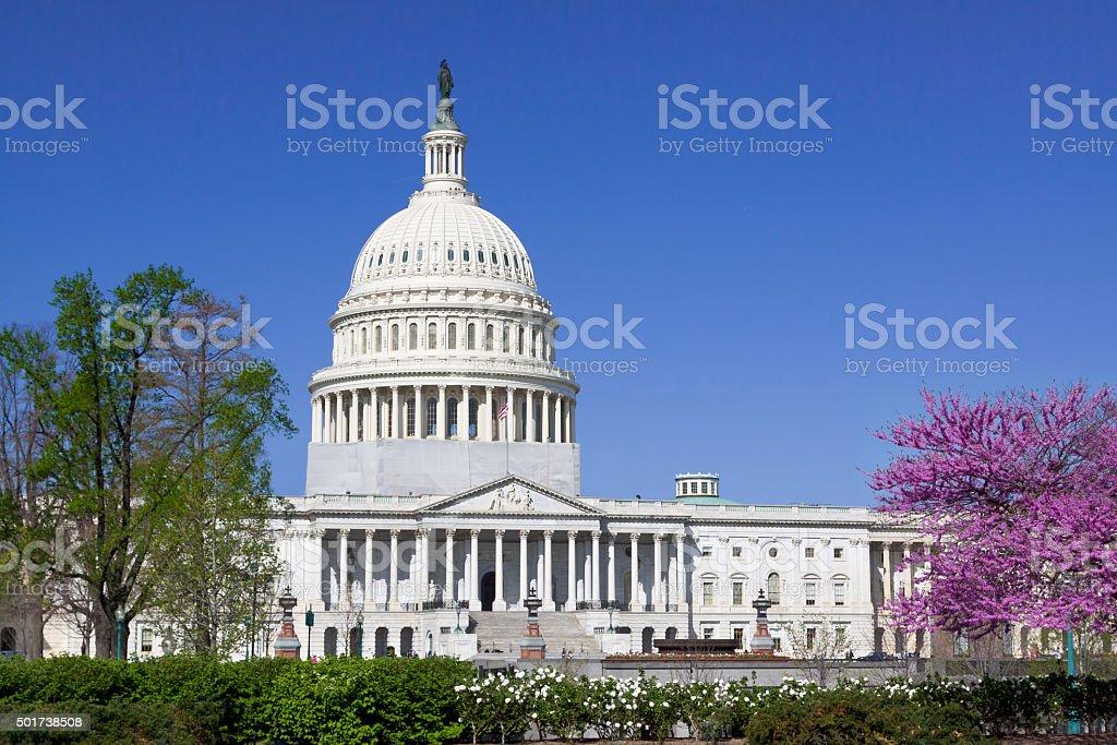 East facade of the US Capitol Building, Washington DC, USA. stock photo