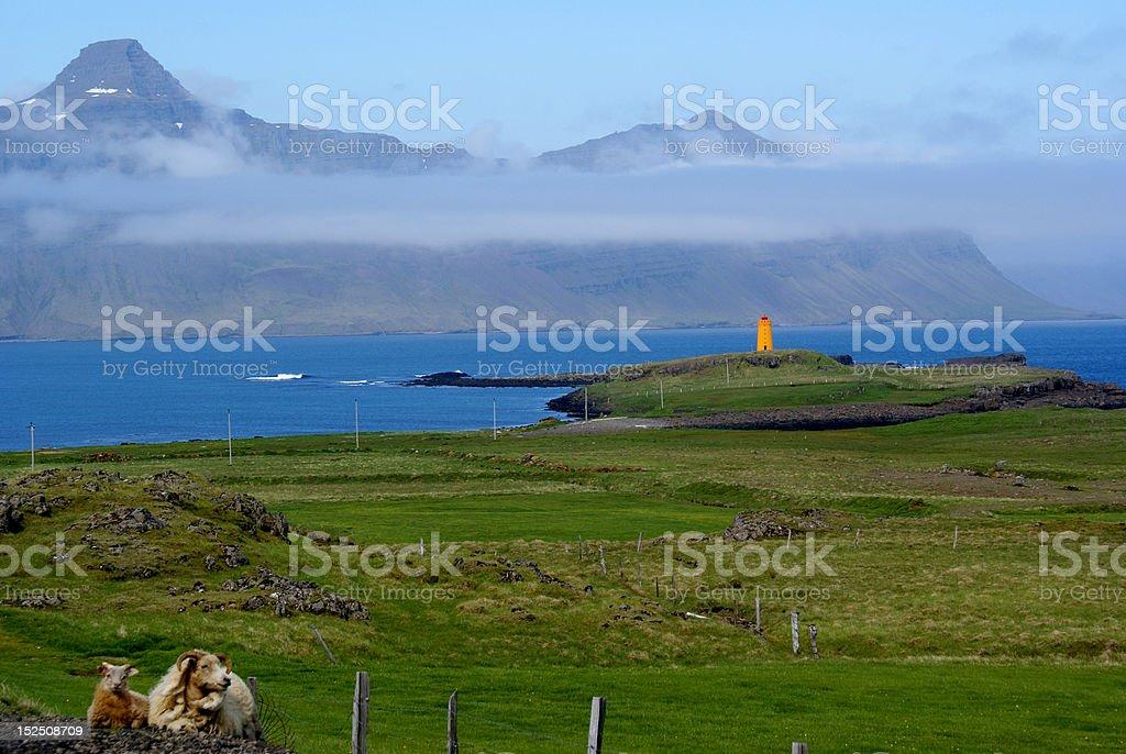 East Fjords Landscape stock photo