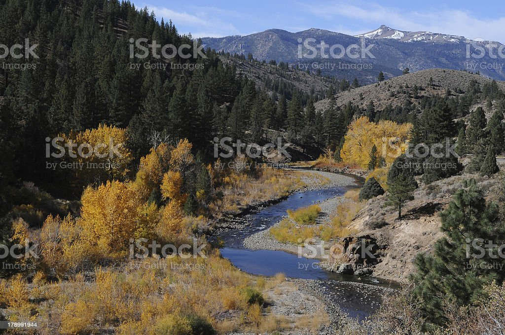 East Fork Carson River Horizontal royalty-free stock photo