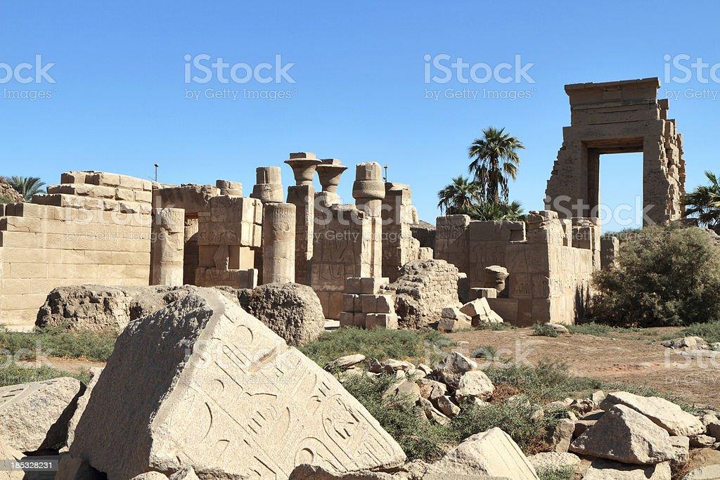 East Gate of Nectanebo I, Karnak Temple, Luxor, Egypt stock photo