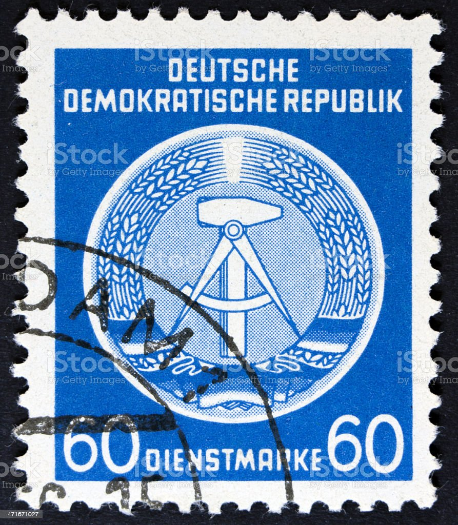 East German post stamp royalty-free stock photo