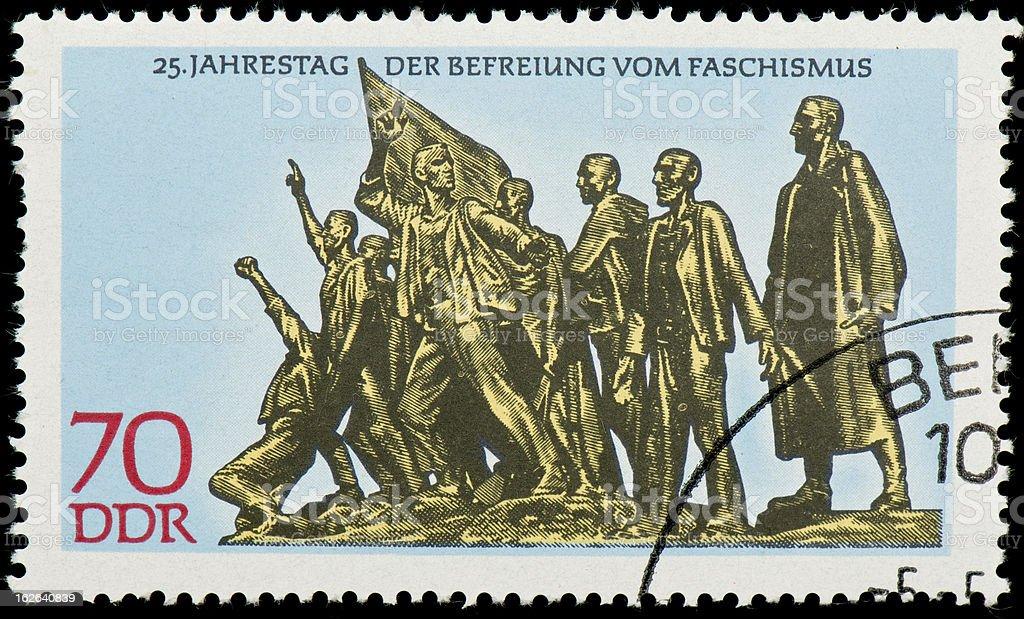 East German postage stamp royalty-free stock photo