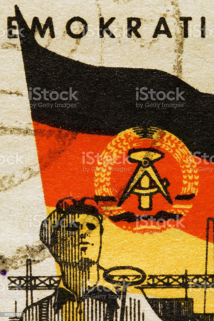 East German stamp royalty-free stock photo