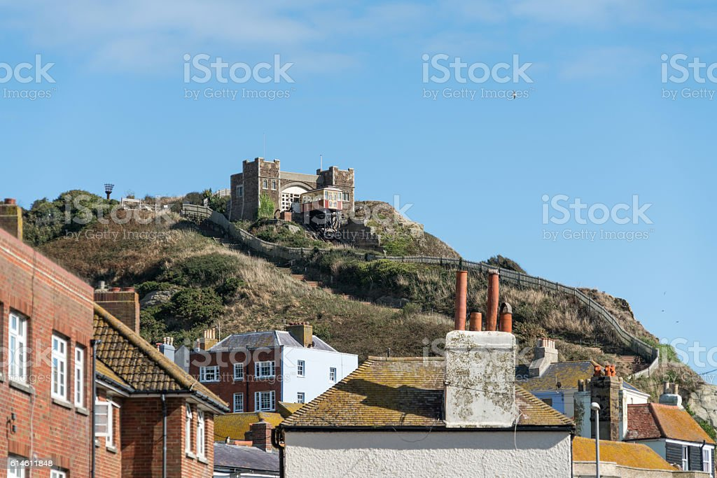 East Hill Lift in Hastings, UK stock photo