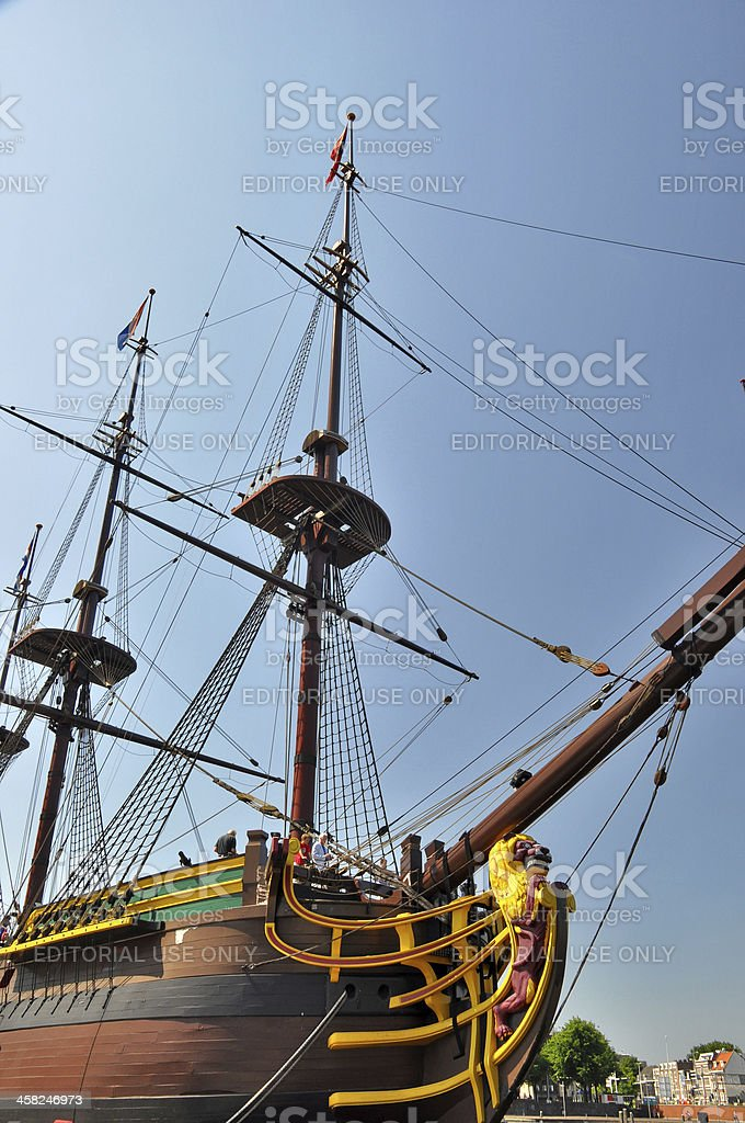 East Indiamen ship Amsterdam stock photo