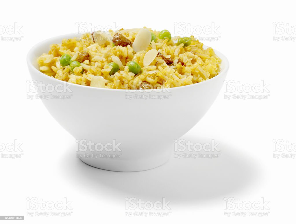 East Indian Vegetable Biryani stock photo