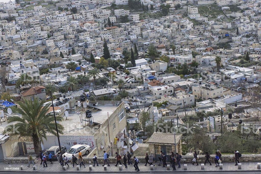 East Jerusalem, Wadi Silwan royalty-free stock photo