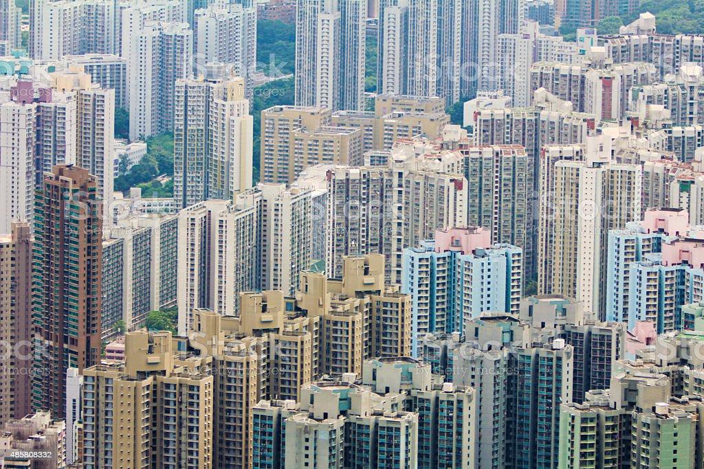East Kowloon buildings in Hong Kong stock photo