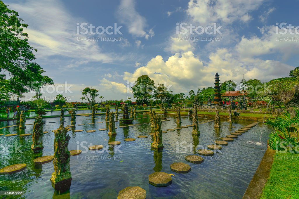 East Lake of Tirta Gangga stock photo