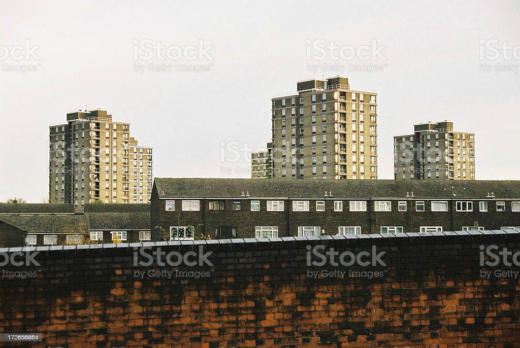 E15 East london tower blocks stock photo