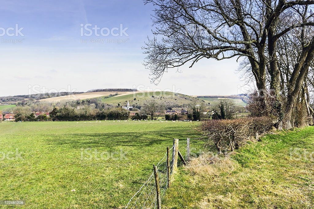 East Meon in the South Downs, England royalty-free stock photo