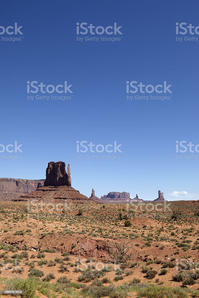 East Mitten Butte, Monument Valley, Southwest USA. royalty-free stock photo