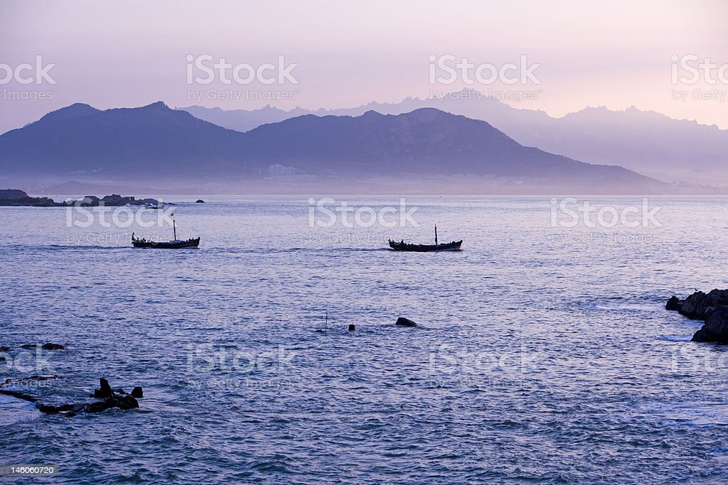east ocean in the morning, China stock photo
