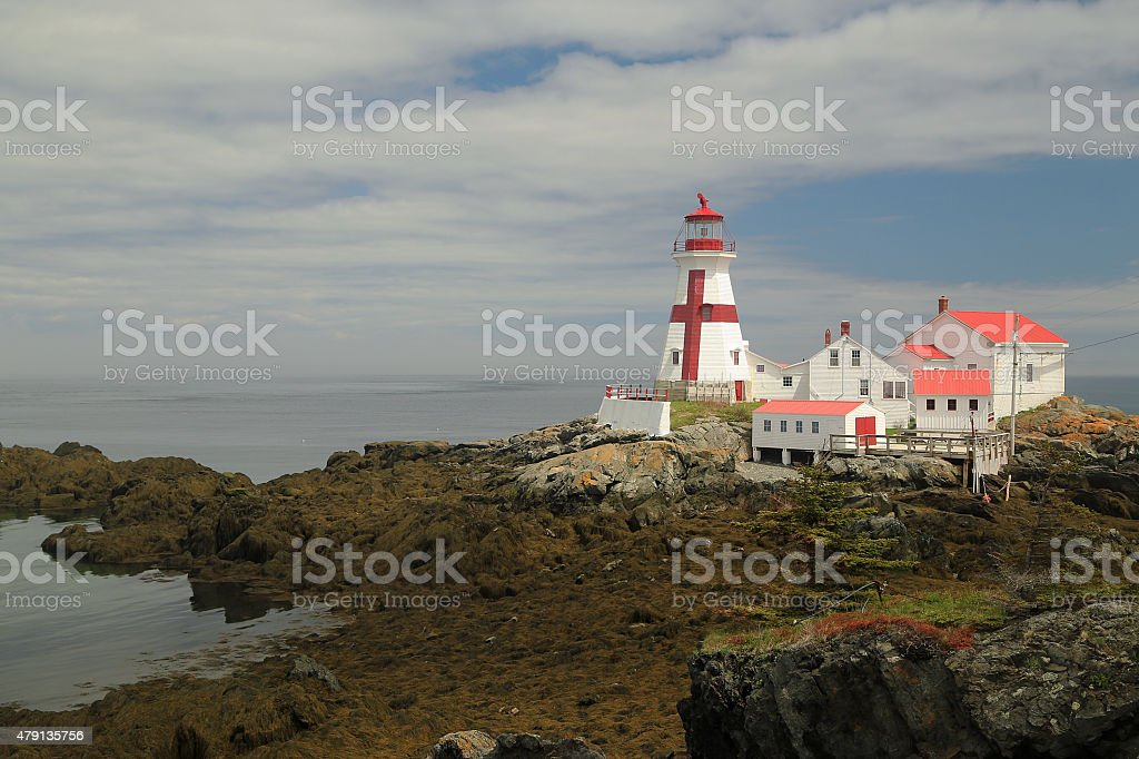 East Quoddy Head Light - low tide stock photo