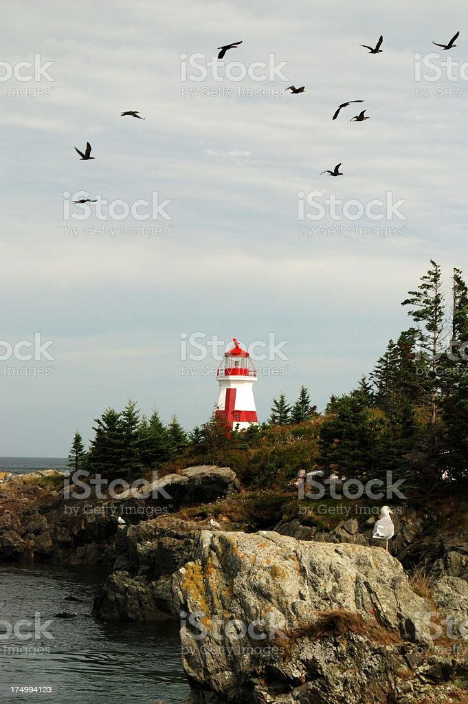 East Quoddy Lighthouse royalty-free stock photo
