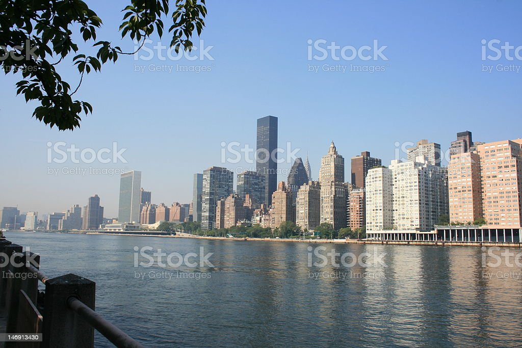 East River and Manhattan royalty-free stock photo