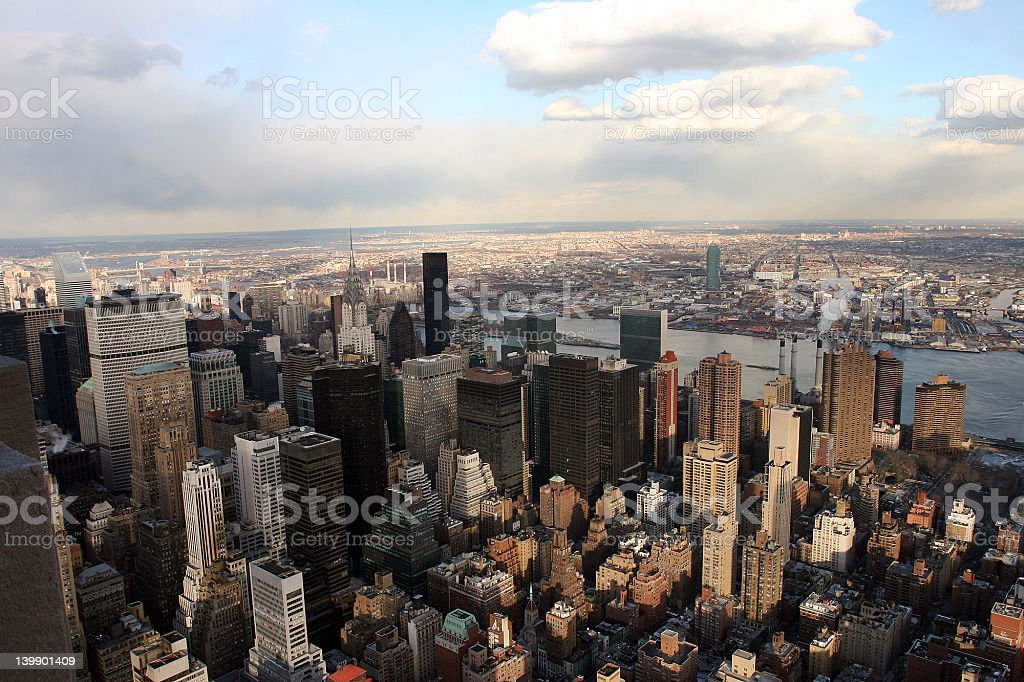East River and United Nations royalty-free stock photo