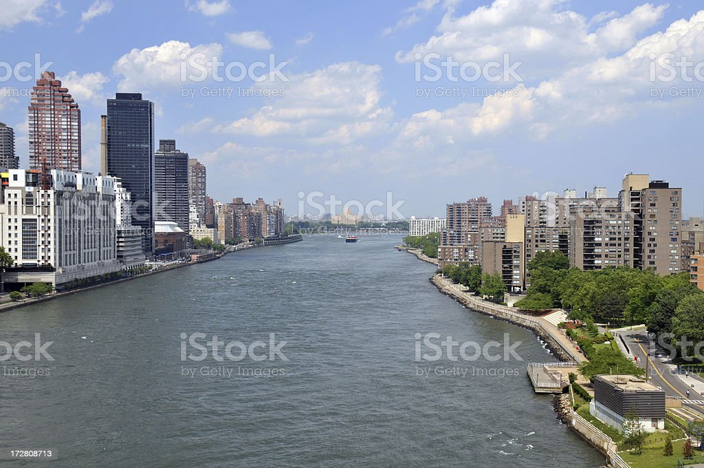 East River from Tram royalty-free stock photo