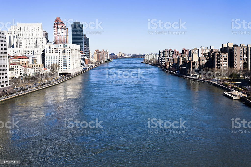 East river in New York City royalty-free stock photo