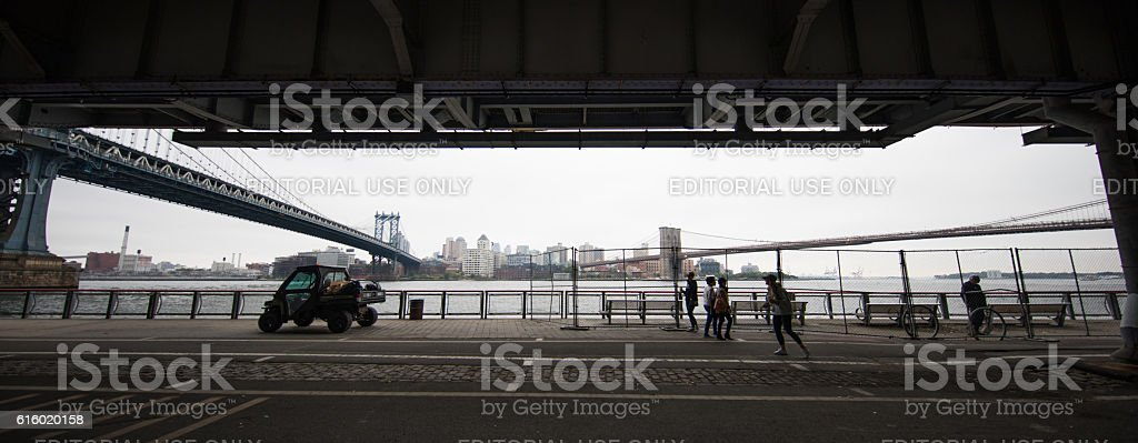 East River, New York City, United States stock photo
