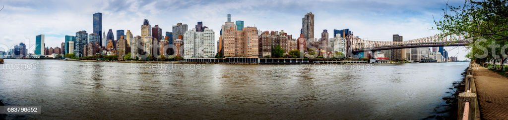 East River Panorama stock photo