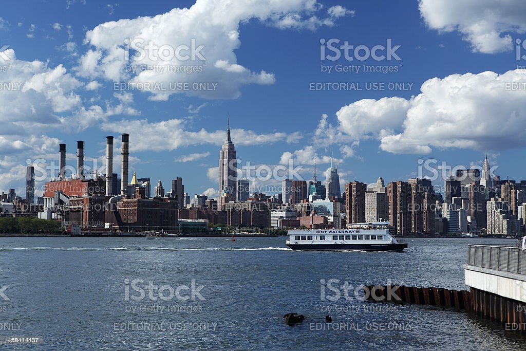 East River summer view of Manhattan NYC royalty-free stock photo