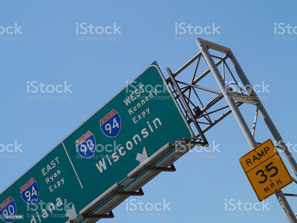 East Ryan & West Kennedy Expy stock photo