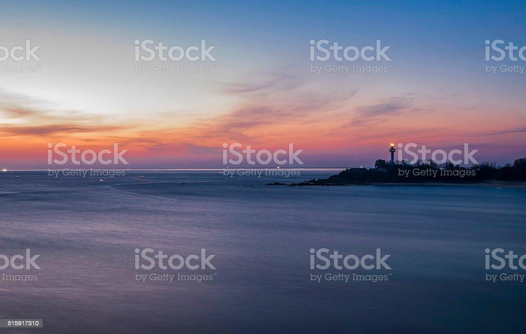 East Sea Sunrise stock photo