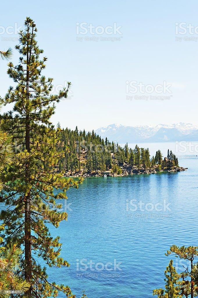 East Shore Lake Tahoe stock photo