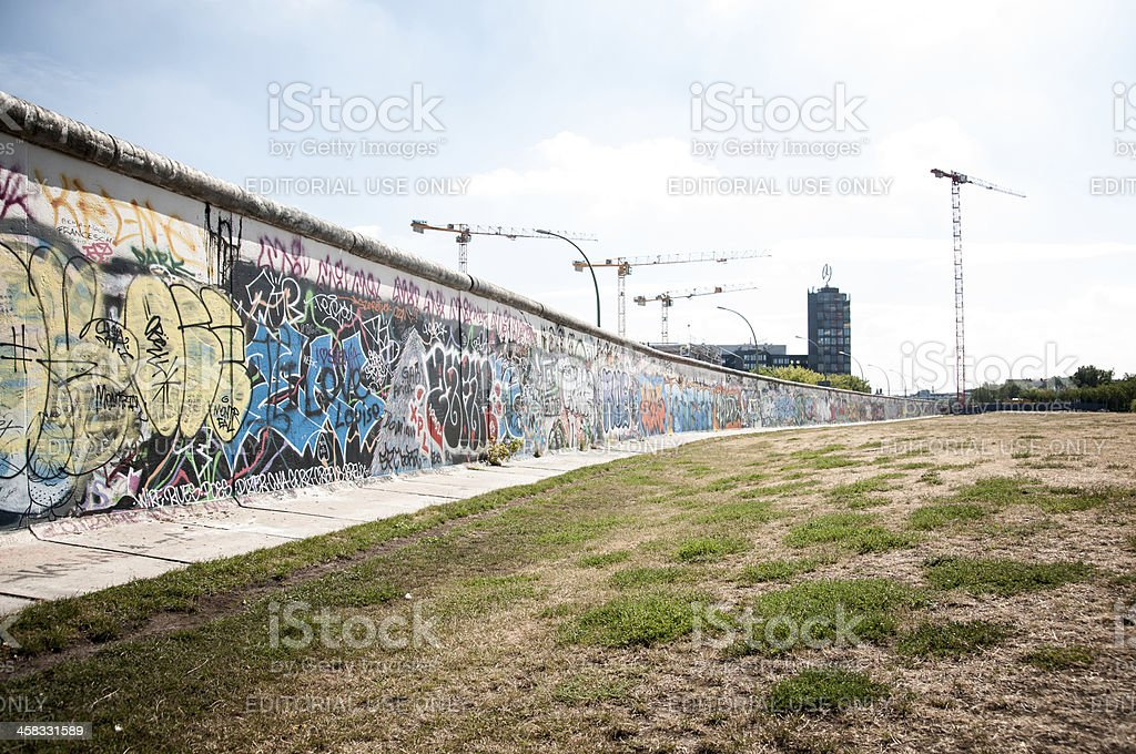 East Side Gallery Berlin Wall stock photo