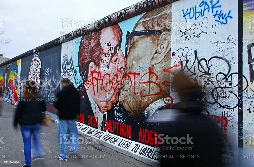 East Side Gallery in Berlin, Germany stock photo