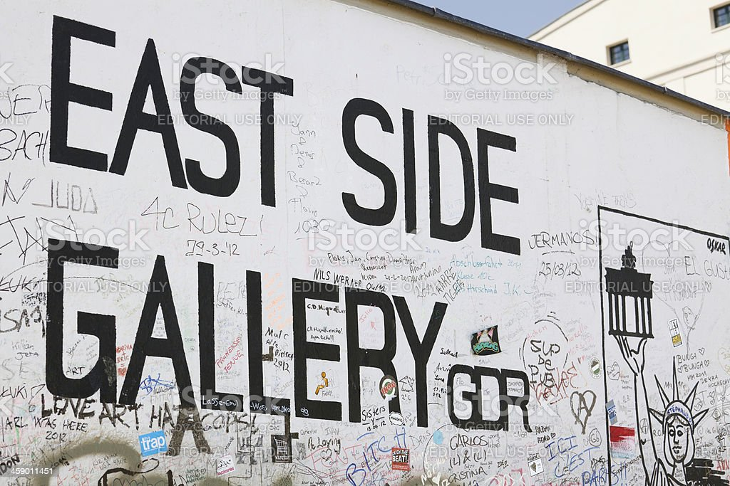 East Side Gallery royalty-free stock photo