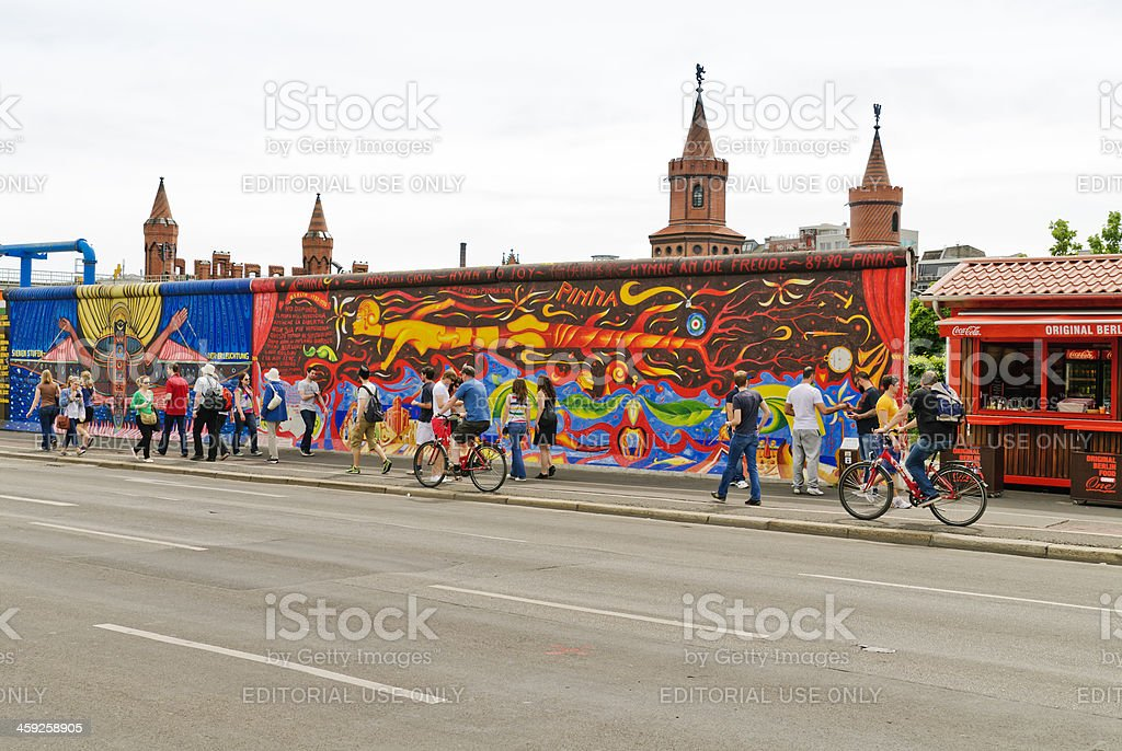 East Side Gallery stock photo