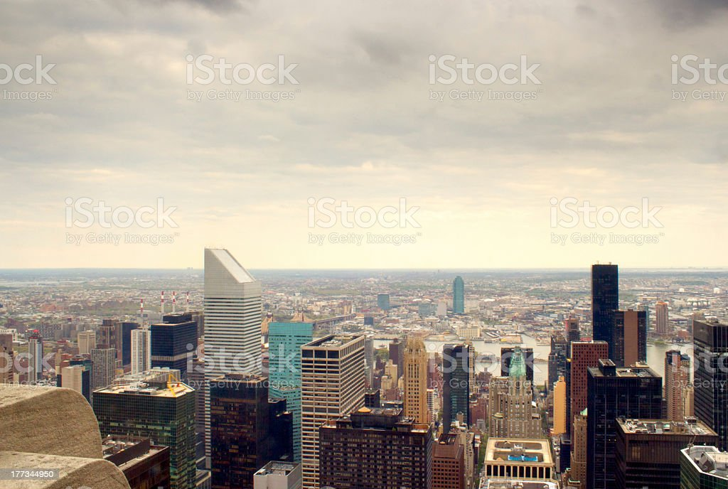 East side Manhattan skyscrapers, NY stock photo