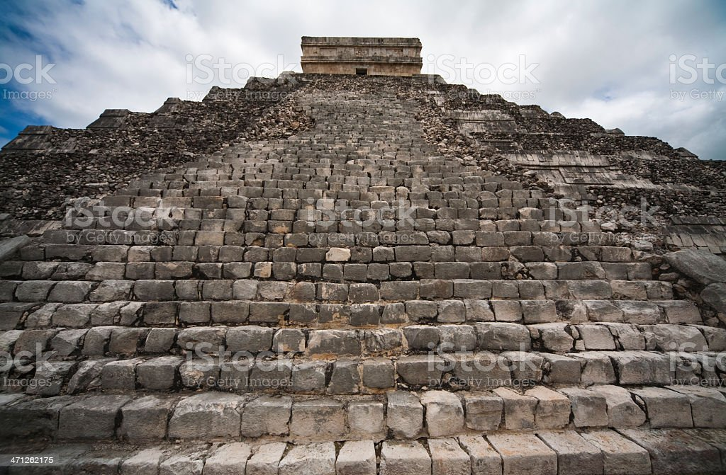 East side of El Castillo royalty-free stock photo