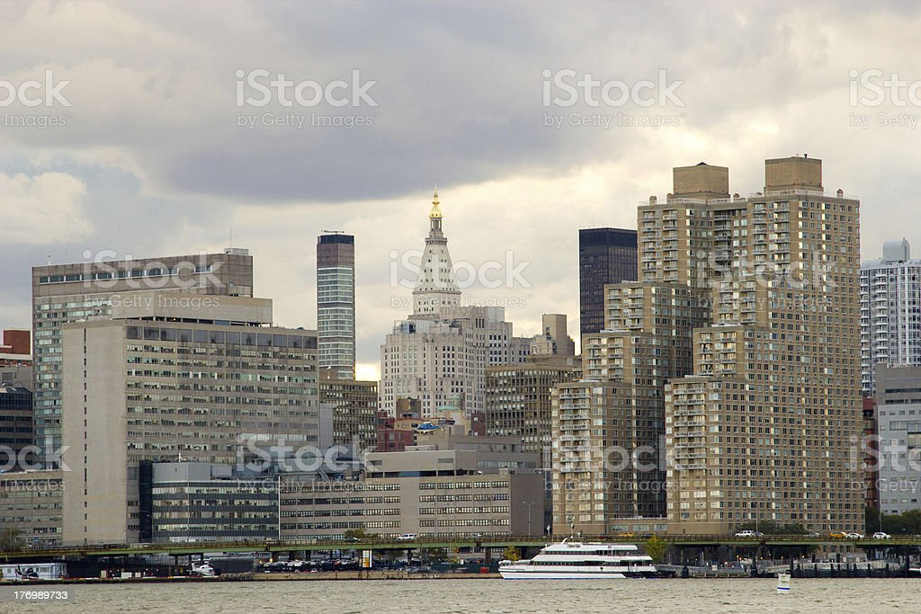 East Side of Manhattan, NY stock photo
