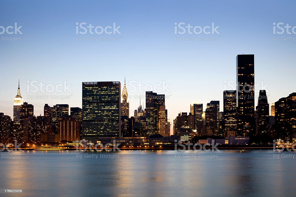 NYC East Side Skyline From Long Island City stock photo