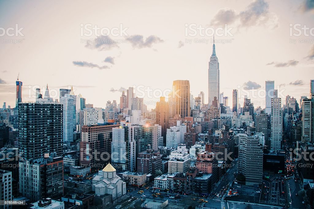East Side View of Manhattan stock photo
