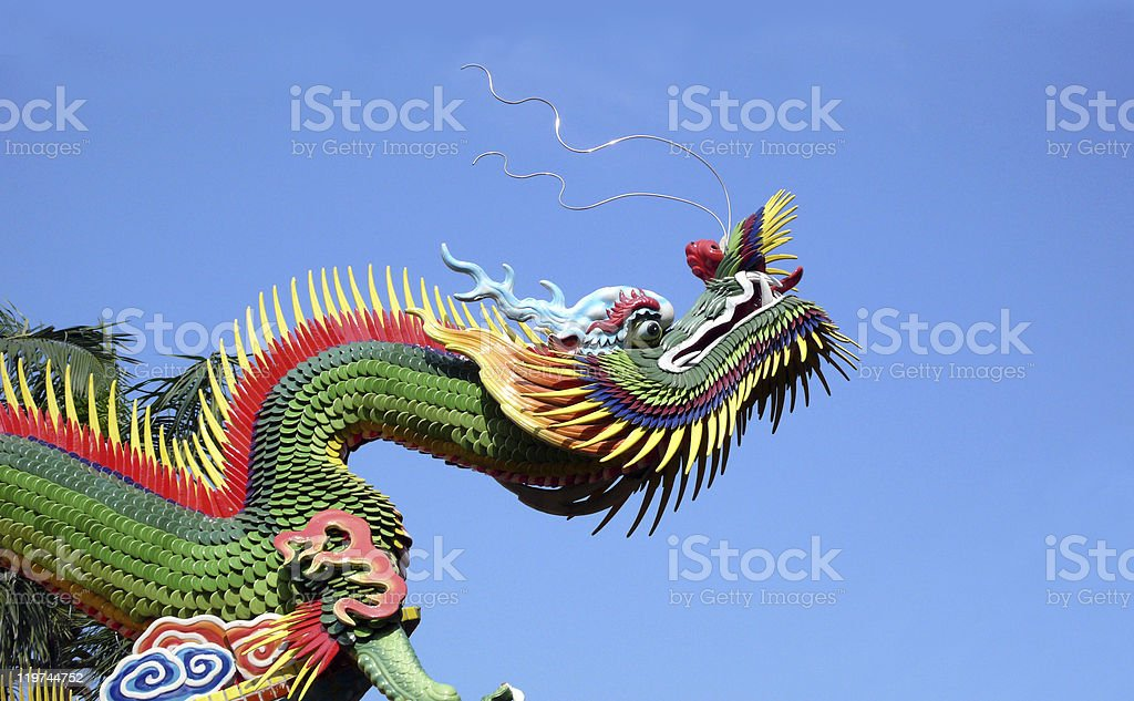 east temple dragon royalty-free stock photo